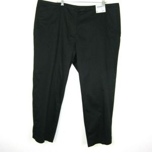 AVENUE 22 NEW Black Ankle Pant Slim Leg Modern Fit